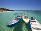 Bay Islands, Roatan, West Bay, Boats, Honduras Photographic Print by Jane Sweeney