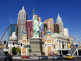 Nevada, Las Vegas, Statue of Liberty and New York New York City Skyline Reproduction, USA Photographic Print by Christian Kober