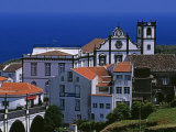 Church Tower Dominates the Town of Nordeste on the Island of Sao Miguel, Azores Photographic Print by William Gray