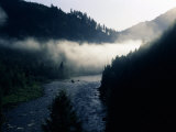 Fog over a River at Dawn, Lochsa River, Idaho, USA Photographic Print