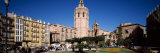 View of a Bell Tower, Cathedral of Valencia, the Miguelete, Plaza De La Reina, Valencia, Spain Photographic Print by  Panoramic Images