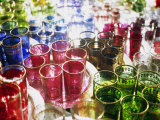 Marrakesh Colourful Moroccan Glassware in the Souqs of Marrakesh, Morocco Photographic Print by Andrew Watson