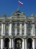 St Petersburg, Main Entrance to the Saint Hermitage Museum or Winter Palace, Russia Lámina fotográfica por Nick Laing