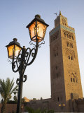 70M High Minaret of the Koutoubia Dominates the Skyline of Marrakech, Built in the 12th Century by  Photographic Print by Julian Love
