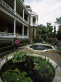Fountains in Front of Mansion, Calhoun Mansion, Charleston, Charleston County, South Carolina, USA Photographic Print
