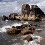 Smoothed by Many Centuries of Wave Action, Huge Rocks Jut into the Clear Waters of Lake Malawi Photographic Print by Nigel Pavitt
