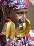 Mopti, A Fulani Woman Wearing Large 14-Carat Gold Earrings, Mali Photographic Print by Nigel Pavitt