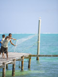 Net Fishing, Caye Caulker, Belize Photographic Print by Russell Young