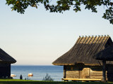 Traditional Thatched Roof Farm House, Located in Rocca Al Mar at the National Open Air Museum Photographic Print by Christian Kober