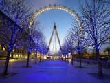 London Eye Is Giant Ferris Wheel, Banks of Thames Constructed for London's Millennium Celebrations Photographic Print by Julian Love