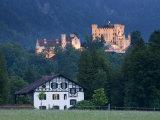Bayern/Bavaria, Deutsche Alpenstrasse, Schwangau, Schloss Hohenschwangau, Germany Photographic Print by Walter Bibikow