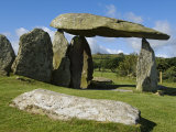 Wales, Pembrokeshire, the Site of the Ancient Neolithic Dolmen at Pentre Ifan, Wales's Most Famous  Photographic Print by John Warburton-lee