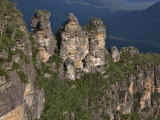 Australia New South Wales, the Famous Three Sisters Rock Formation in Blue Mountains Near Katoomba Photographic Print by Nigel Pavitt