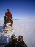 Kamchakta, Crossing the Winter Tundra on a Snowmobile, Palana, Kamchatka, Russian Far East, Russia Photographic Print by Nick Laing
