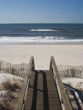 New York, Long Island, the Hamptons, Westhampton Beach, Beach View from Beach Stairs, USA Fotografie-Druck von Walter Bibikow