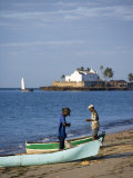 Fishermen Prepare their Boats on the Beach on Ilha Do Mozambique Photographic Print by Julian Love
