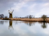 Turf Fen Windmill, Norfolk, UK Photographic Print by Nadia Isakova
