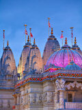 London, Neasden, Shri Swaminarayan Mandir Temple Illuminated for Hindu Festival of Diwali, England Photographic Print by Jane Sweeney