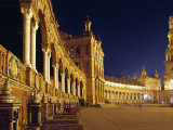Vast Semi-Circular Plaza De España in Seville Photographic Print by Andrew Watson