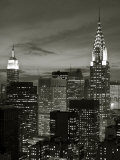 Vue du Chrysler Building et de Midtown Manhattan, New York City, États-Unis Photographie par Jon Arnold