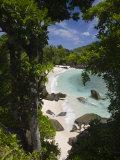Seychelles, Mahe Island, Port Launay Marine National Park Reproduction photographique par Walter Bibikow