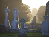Clonmacnoise Monastery, Co Offlay, the Midlands, Ireland Photographic Print by Doug Pearson