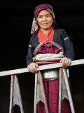 Myanmar, Burma, Wanpauk Village, A Palaung Woman of the Tibetan-Myanmar Group of Tribes Photographic Print by Nigel Pavitt