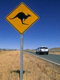 Road Sign, Western Australia, Australia Fotografisk tryk af Doug Pearson