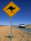 Road Sign, Western Australia, Australia Photographic Print by Doug Pearson