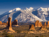 Utah, La Sal Mountains from Arches National Park, USA Photographic Print by Alan Copson