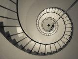 La Paloma, Atlantic Ocean Resort Town, Cabo Santa Maria Lighthouse, Interior Stairs, Uruguay Photographie par Walter Bibikow