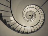 Walter Bibikow - La Paloma, Atlantic Ocean Resort Town, Cabo Santa Maria Lighthouse, Interior Stairs, Uruguay Fotografická reprodukce