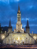 Basilika Du Rosaire, Lourdes, Hautes-Pyrenees, Midi-Pyrenees, France Photographic Print by Doug Pearson