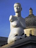 Controversial Sculpture Alison Lapper Pregnant by Mark Quinn Inf Trafalgar Square, London Photographic Print by Julian Love