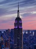 New York City, Manhattan, View Towards Downtown; Empire State Building from Rockerfeller Centre, US Fotografie-Druck von Gavin Hellier