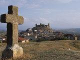 Hilltop Village of San Vicente, from Stone Crosses That Represent the Twelve Stations of Cross Photographic Print by John Warburton-lee