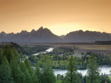 Snake River Overlook and Teton Mountain Range, Grand Teton National Park, Wyoming, USA Photographic Print by Michele Falzone