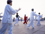 Tai Chi on the Bund, Shanghai, China Photographic Print by Gavin Hellier