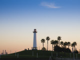 California, Long Beach, Shoreline Village Lighthouse, USA Photographic Print by Walter Bibikow