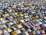 Gathering of Muslim Men Pray to Allah, End of Muslim Holy Month of Ramadan, Mali Photographic Print by Nigel Pavitt