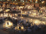 Eateries Operate from Dusk Until Late at the Djemaa El Fnaa Photographic Print by Amar Grover