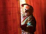 Masked Man, Festival, Trashichhoe Dzong, Thimpu, Bhutan Photographic Print by Peter Adams