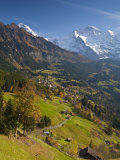 Wengen and Lauterbrunnen Valley, Berner Oberland, Switzerland Photographie par Doug Pearson