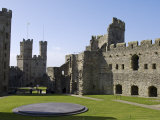 Gwynedd, Caernarvon, Inside the Walls of Caernarvon Castle, Wales Photographic Print by John Warburton-lee