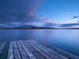 Maine, Baxter State Park, Lake Millinocket and Mount Katahdin, USA Photographic Print by Alan Copson