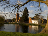 Shropshire, Whittington, the Village Pond, England Photographic Print by John Warburton-lee