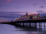 Brighton Pier Offers Entertainment for Visitors, England Photographic Print by Fergus Kennedy