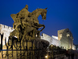 Statue of Saladin Stands in Front of the Citadel, Damascus, Syria Photographic Print by Julian Love