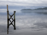 Jetty on the Old Penal Colony of Sarah Island in Macquarie Harbour, Tasmania Photographic Print by Julian Love