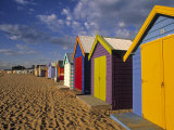 Bathing Huts, Port Phillip Bay, Melbourne, Victoria, Australia Fotografie-Druck von Doug Pearson